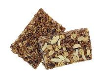 Bars de granola caoutchouteux dessus et bas image libre de droits