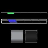 Bars de navigation noirs Images stock
