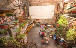 Bars de ruine de ville de Budapest Image libre de droits