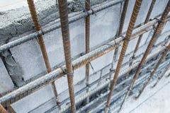 Bars en acier pour renforcer le béton Image libre de droits