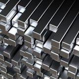 bars en métal 3d Image stock