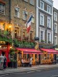 Bars et restaurants de Londres dans le jardin de Covent image libre de droits
