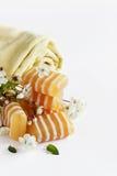 Bars of glycerine soap Royalty Free Stock Image