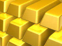 Bars of Gold stock illustration
