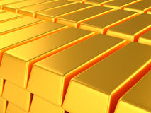 Bars of gold. A lot of bars of gold Royalty Free Stock Photo