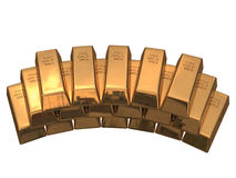 Bars of gold. Fine gold 999,9 Stock Photography