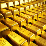 bars guld Arkivfoton
