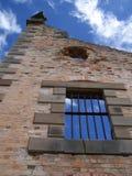 Bars historiques de prison photo stock