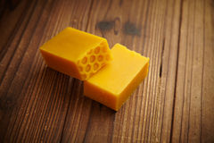 Bars of honey soap Royalty Free Stock Photos