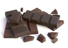 bars isolerad choklad Arkivbild