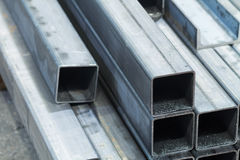 Bars made of carbon steel. Closeup royalty free stock photo