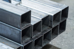 Bars made of carbon steel Stock Image