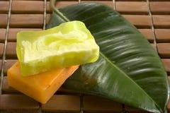 Bars of natural soap stock photography