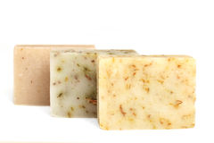 Bars of natural soap Stock Photo