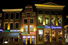 Bars at nightGroningen Royalty Free Stock Images