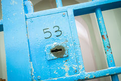 Bars in old prison Royalty Free Stock Photography