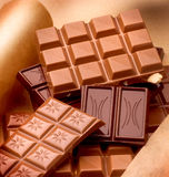 bars olik choklad Arkivbild