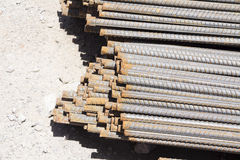 Bars of reinforced steel Royalty Free Stock Images