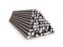 The bars of reinforcement. Stock Photos