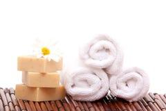 bars soap spa πετσέτες Στοκ Εικόνες