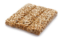 Bars Sunflower Seeds on white Royalty Free Stock Images