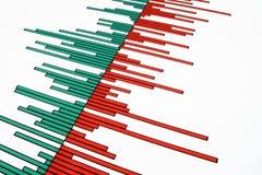 Bars sur un diagramme courant. Images libres de droits