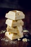 Bars van witte chocolade stock fotografie