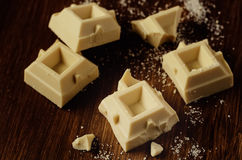 Bars of white chocolate Royalty Free Stock Photography