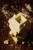 Bars of white chocolate Royalty Free Stock Images