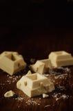 Bars of white chocolate Stock Image
