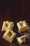 Bars of white chocolate Stock Photography