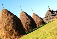 barsana haystacks monaster blisko Obraz Stock
