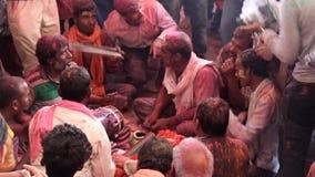 Barsana, India - 20180223 - Holi-Festival - Woeste Slagwerker stock footage