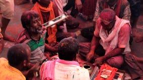 Barsana, India - 20180223 - Holi-Festival - Woeste Slagwerker And Friends stock video