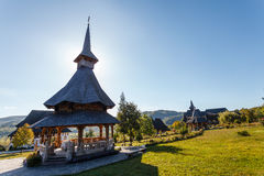 Barsana kloster 7 Arkivfoton