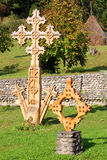 Barsana Kloster: hölzernes Kreuz Lizenzfreies Stockbild