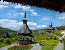 Barsana Kloster in Maramures Stockbild