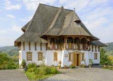 Barsana kloster - museum Royaltyfria Foton