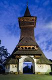 Barsana klosterkomplex i Maramures Royaltyfri Fotografi