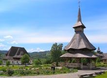 Barsana klosterkomplex i Maramures Fotografering för Bildbyråer