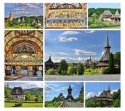 Комплекс монастыря Barsana в Maramures Стоковая Фотография RF