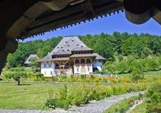 Barsana, Maramures - architettura di legno Fotografia Stock