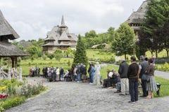 Barsana Monastary in Romania Stock Images