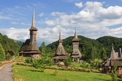 Barsana Monastery. One of the main attractions in Maramures, Romania Royalty Free Stock Images