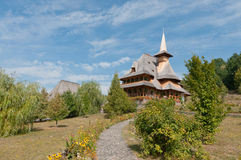 Barsana Monastery. One of the main tourist attractions in Maramures, Romania royalty free stock image