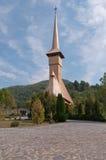 Barsana Monastery. One of the main tourist attractions in Maramures, Romania stock photo