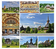 Barsana monastery complex in Maramures, Romania Royalty Free Stock Photography