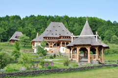 Barsana monastery complex in Maramures, Romania Royalty Free Stock Images