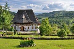 Barsana monastery complex in Maramures. Traditional building of Barsana monastery from Maramures - Romania Royalty Free Stock Photography
