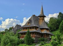 Barsana monastery complex in Maramures, Romania Stock Photos
